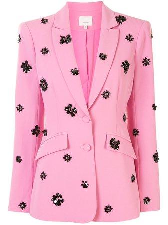 Pink & black Cinq A Sept Cheyenne embellished blazer - Farfetch