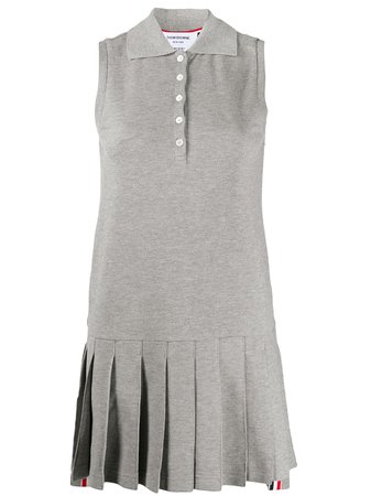 Thom Browne Sleeveless Pleated Tennis Dress - Farfetch
