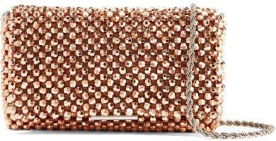 Mimi Beaded Satin Shoulder Bag - Pink