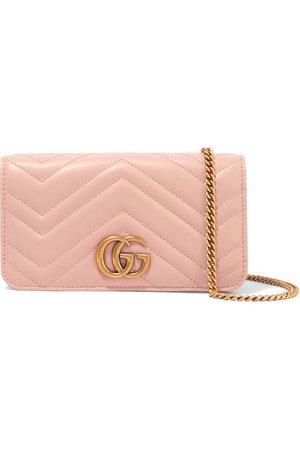 Gucci | Sac porté épaule en cuir matelassé GG Marmont Mini | NET-A-PORTER.COM