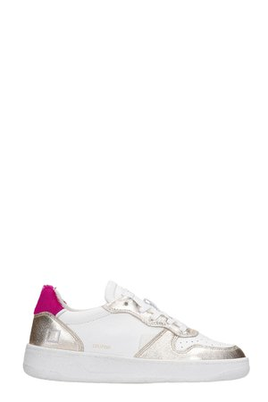 D.A.T.E. Court Pop Sneakers In White Leather