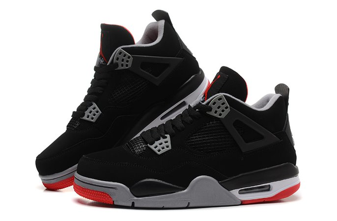 Air Jordan 4 retro black red