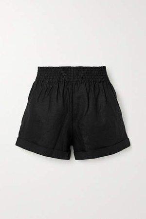 Nashville Linen Shorts - Black