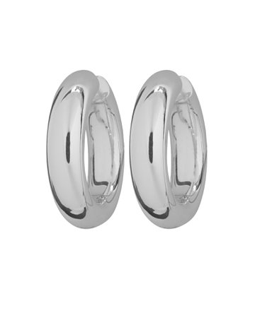 Large Silver Tube Hoops   INTERMIX®