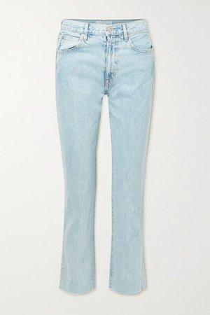 Hero Cropped High-rise Straight-leg Jeans - Light denim