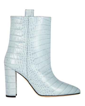Paris Texas Croc-Embossed Leather Booties | INTERMIX®