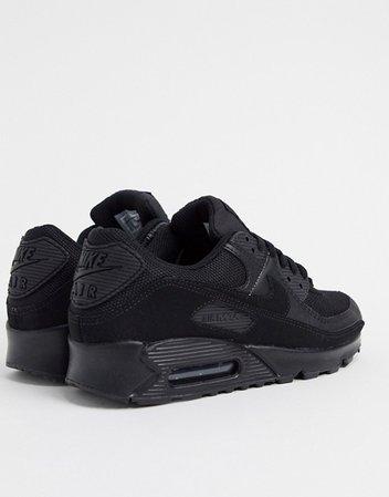 Nike Air Max 90 sneakers in triple black   ASOS