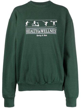 Sporty & Rich logo-print Cotton Sweatshirt - Farfetch