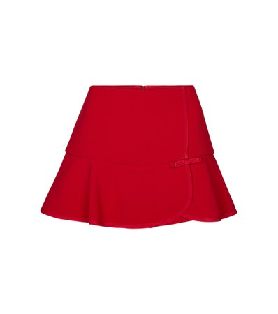 RED Valentino stretch-cady miniskirt