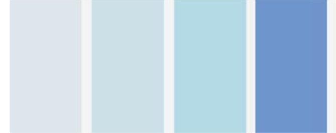 paleta azul
