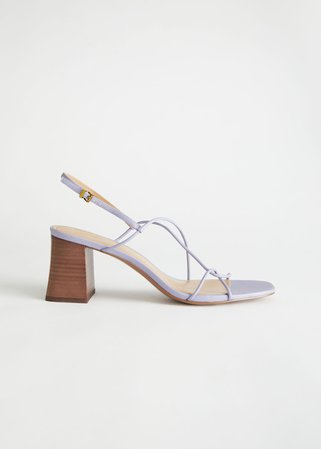Strappy Leather Heeled Sandal - Lilac - Heeled sandals - & Other Stories