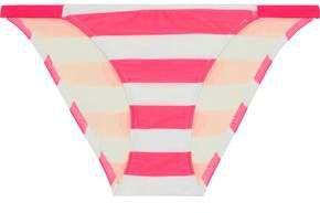 The Morgan Striped Low-rise Bikini Briefs