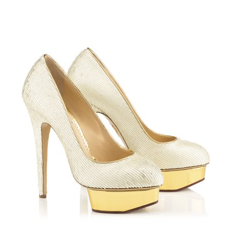 Dolly in Pearl - Platforms | Charlotte Olympia