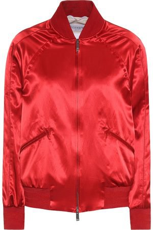 red bomber jacket women - Google Search