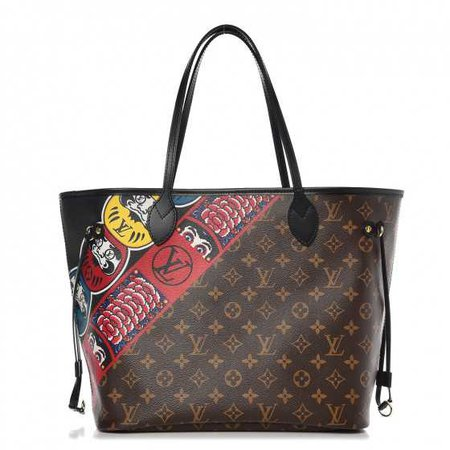 LOUIS VUITTON Monogram Kabuki Neverfull MM 263725
