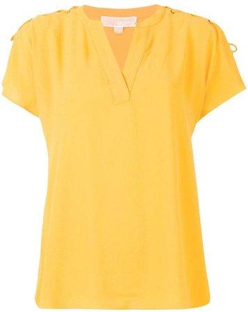lace-up blouse