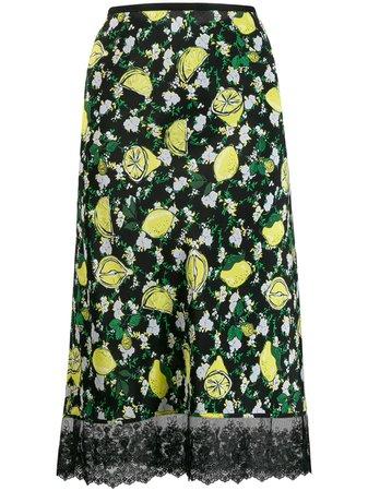 Shop DVF Diane von Furstenberg lemon print skirt with Express Delivery - FARFETCH