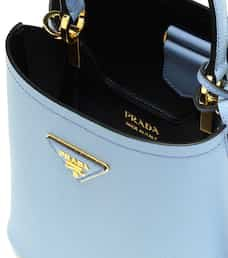 Panier Small Leather Shoulder Bag - Prada | Mytheresa