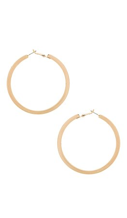 Ettika Classic Hoops in Gold   REVOLVE