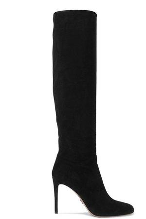Prada | 100 suede knee boots | NET-A-PORTER.COM