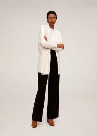 Fine-knit cardigan - Women   Mango United Kingdom