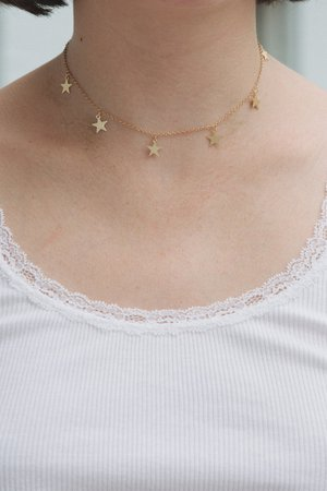Gold Stars Charm Choker - Chokers - Jewelry - Accessories