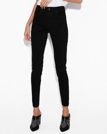 High Waisted Black Jean Leggings