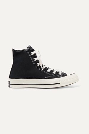 Black Chuck Taylor All Star 70 canvas high-top sneakers | Converse | NET-A-PORTER