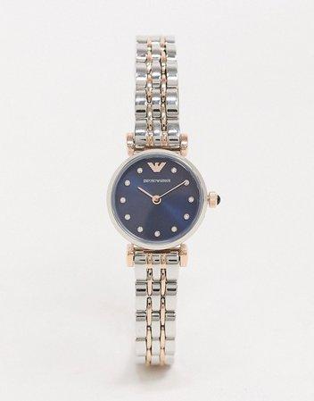 Emporio Armani AR11222 Gianni T-Bar bracelet watch   ASOS