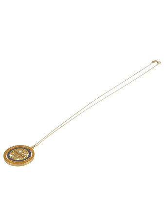 Tory Burch Logo Plaque Necklace