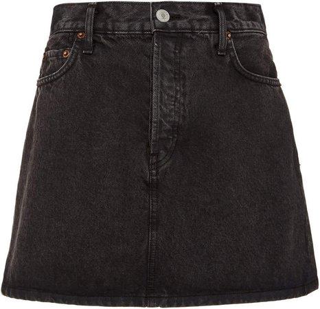 '60's Denim Mini Skirt Size: 24
