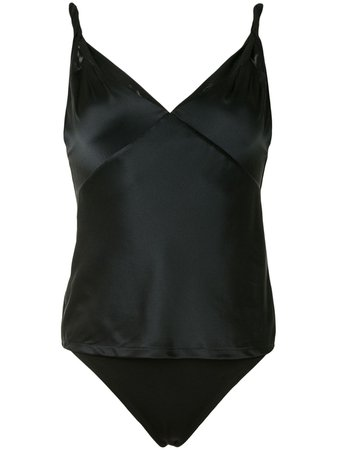 RtA cami top silk bodysuit black WU03327138BLK - Farfetch