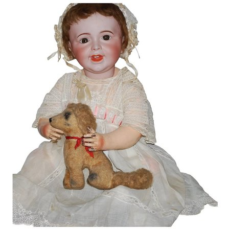 "24"" SFBJ Bisque French Laughing Jumeau Baby Doll #236 with Composition : Antique World USA 