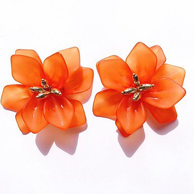 Women's Stud Earrings Flower Stylish Resin Earrings Jewelry White / Orange / Blue For Daily 1 Pair 7464866 2019 – $7.13