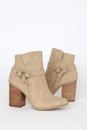 Cute Taupe Booties