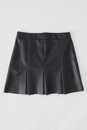 UO Faux Leather Box Pleat Mini Skirt | Urban Outfitters