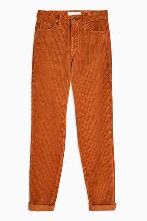 Brown Corduroy Mom Jeans | Topshop