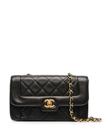 Chanel Pre-Owned 1992 CC diamond-quilted shoulder bag - FARFETCH