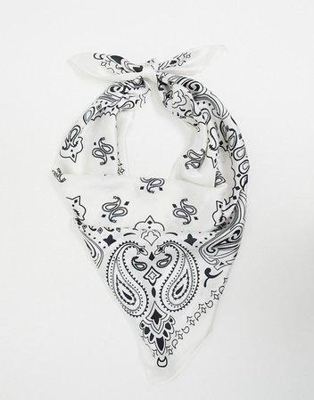 ASOS DESIGN paisley print sateen scarf | ASOS