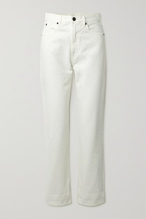 Dakota High-rise Straight-leg Jeans - White