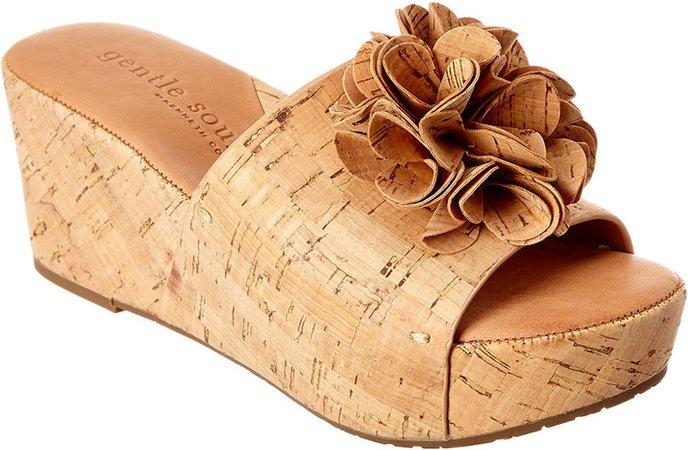 Forella Cork Wedge Sandal