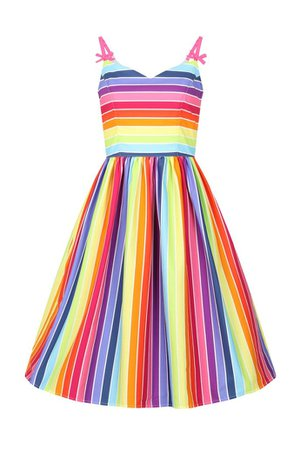 Hell Bunny Over The Rainbow 50's Dress - One Size Small Left – Lana-Rose Fashion