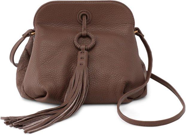 Birdy Tassel Leather Crossbody Bag