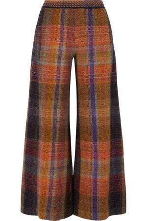 Missoni | Checked crochet-knit wide-leg pants | NET-A-PORTER.COM