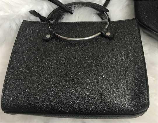Black Shimmering Handbag