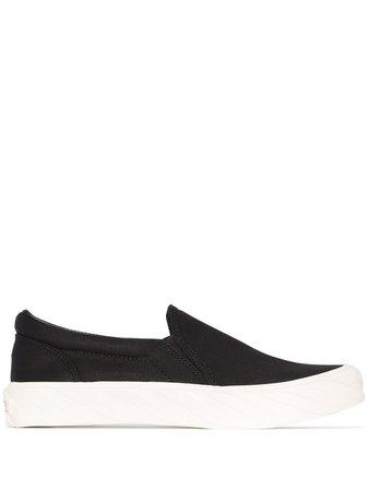 Age Flat Slip-On Sneakers AGFTCRONBK012 Black | Farfetch