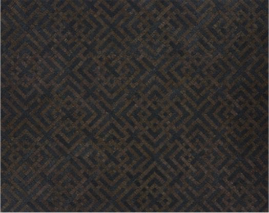 cb2 black patterned rug