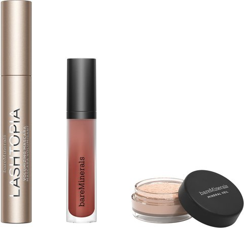 Mascara, Matte Lip Color & Finishing Powder Set