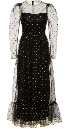 Red Valentino Polka Dot Organza Dress