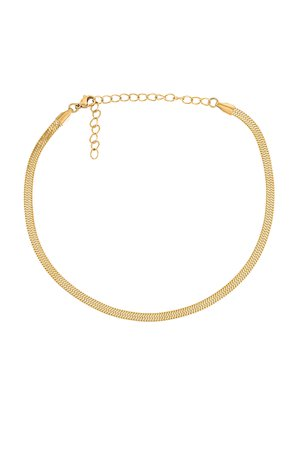 Ellie Vail Nic Snake Chain Choker Necklace in Gold | REVOLVE